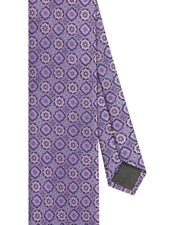 Canali Silk tie with medallion motif purple-2_2