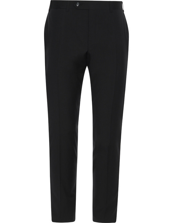 Canali Black pure wool dress pants-2_0