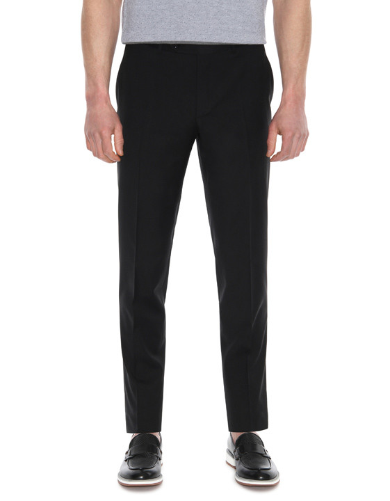 Canali Black pure wool dress pants-2_1