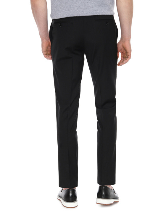 Canali Black pure wool dress pants-2_2