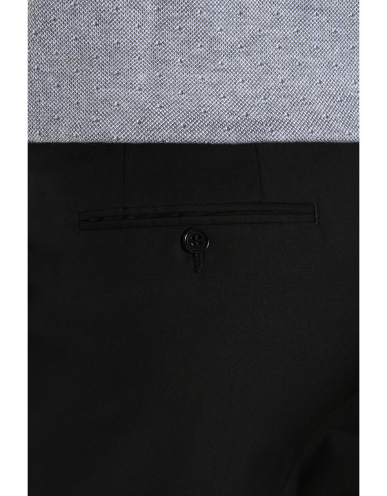 Canali Black pure wool dress pants-2_3