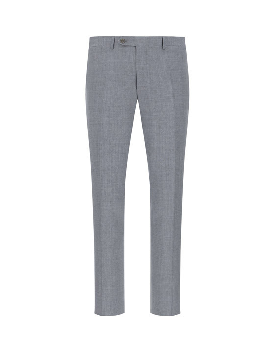 Canali Light gray dress pants in pure wool-2_0