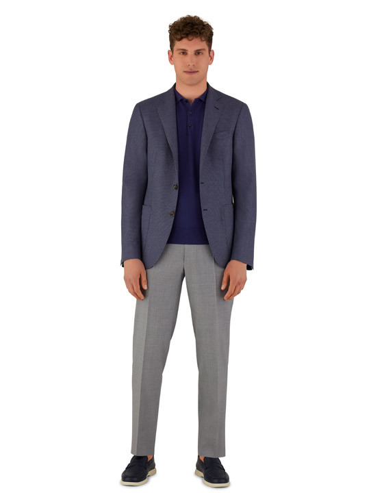 Canali Light gray dress pants in pure wool-2_1
