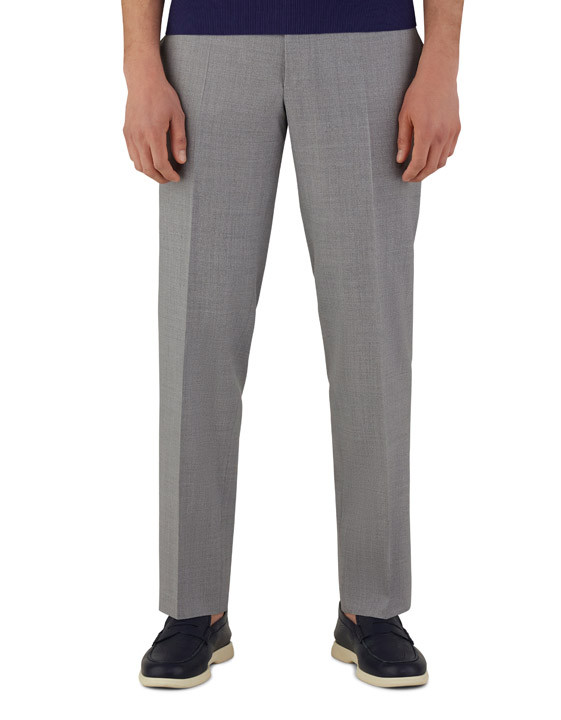 Canali Light gray dress pants in pure wool-2_2