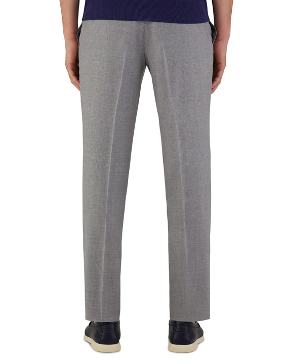 Canali Light gray dress pants in pure wool-2_3