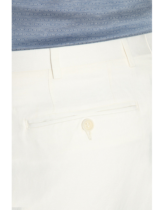 Canali White linen-silk blend dress pants-2_3
