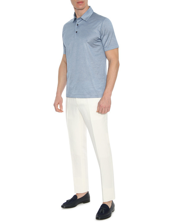 Canali White linen-silk blend dress pants-2_4