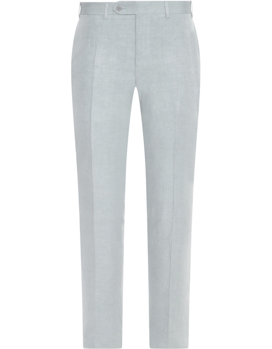 Canali Light gray dress pants in linen-silk blend-2_0