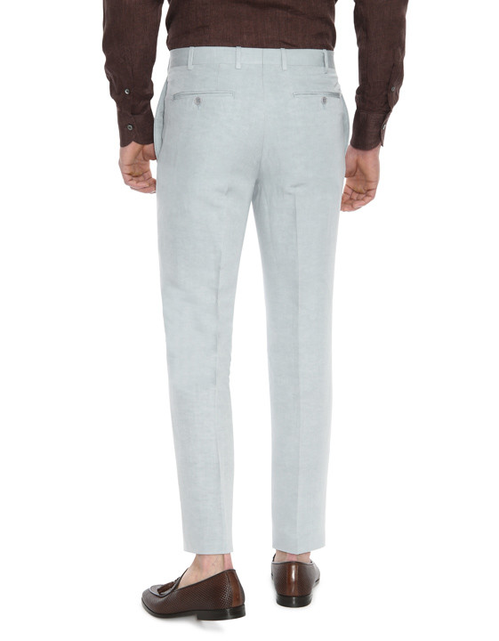 Canali Light gray dress pants in linen-silk blend-2_2