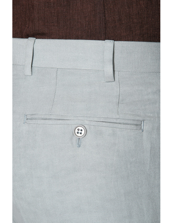 Canali Light gray dress pants in linen-silk blend-2_3