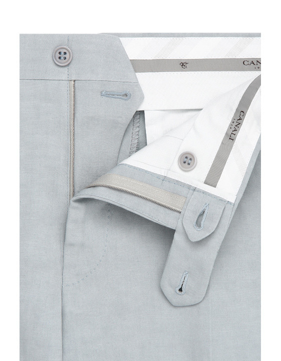 Canali Light gray dress pants in linen-silk blend-2_4