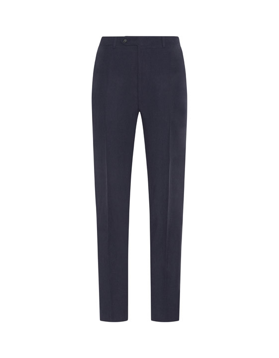 Canali Dark blue dress pants in linen-silk blend-2_0
