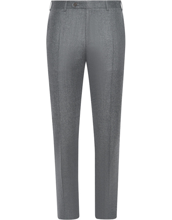 Canali Light gray mélange wool dress pants-2_0
