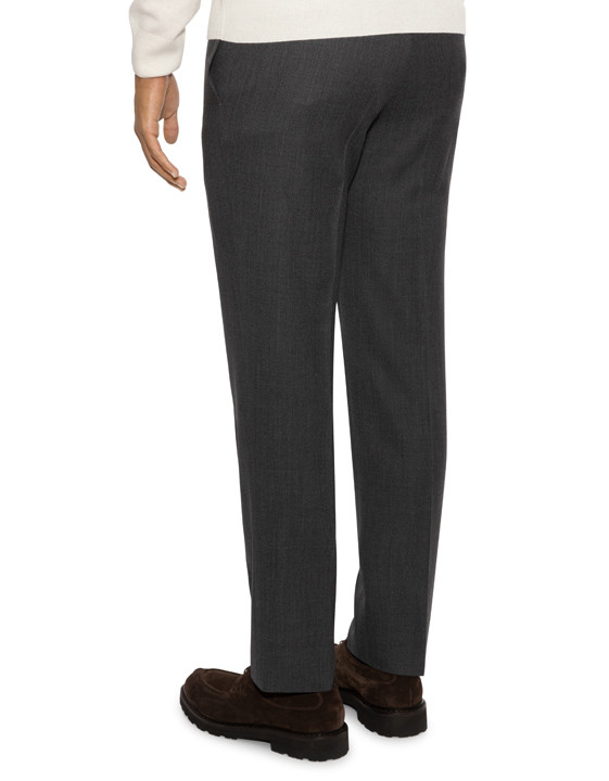 Canali Light gray mélange wool dress pants-2_3
