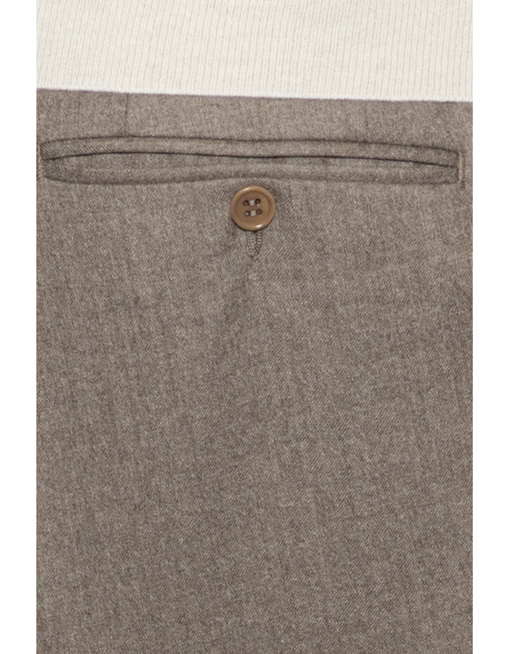 Canali Beige pure wool dress pants-2_4