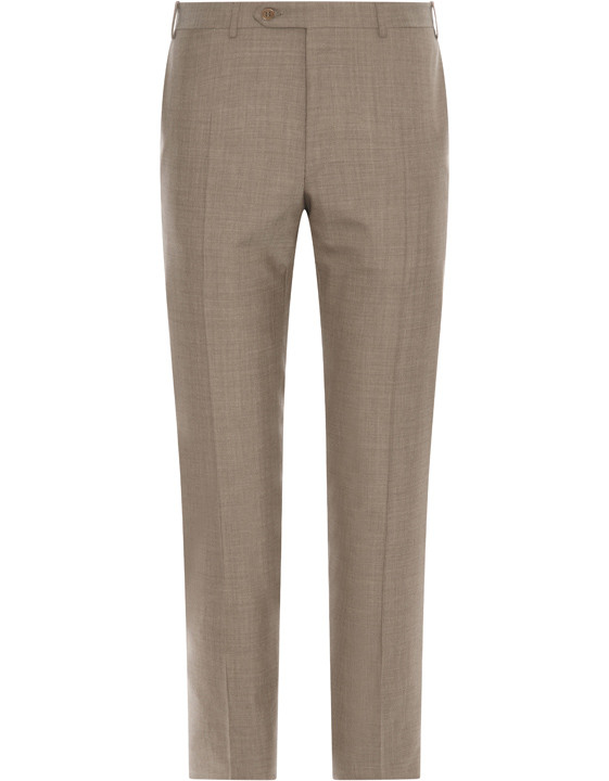 Canali Light brown wool dress pants-2_0
