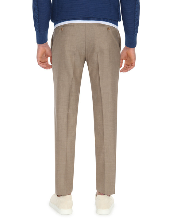 Canali Light brown wool dress pants-2_2