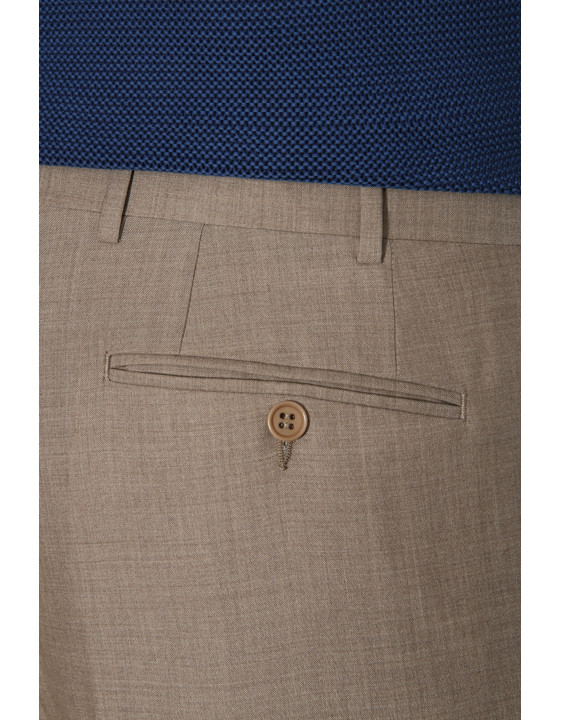 Canali Light brown wool dress pants-2_3