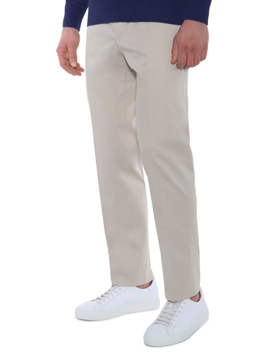 Canali Beige dress pants in stretch cotton-2_0