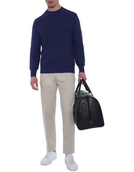 Canali Beige dress pants in stretch cotton-2_5