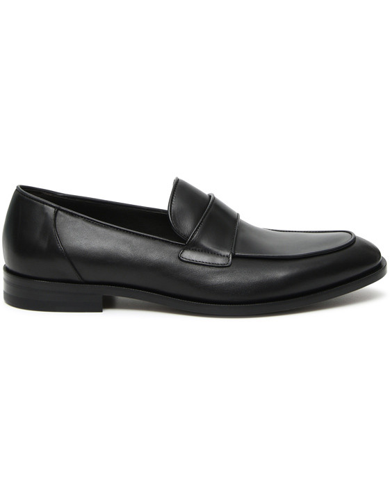 Canali Black calfskin loafers-2_0