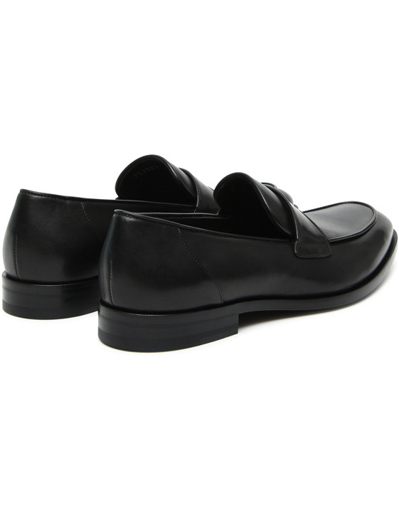 Canali Black calfskin loafers-2_3