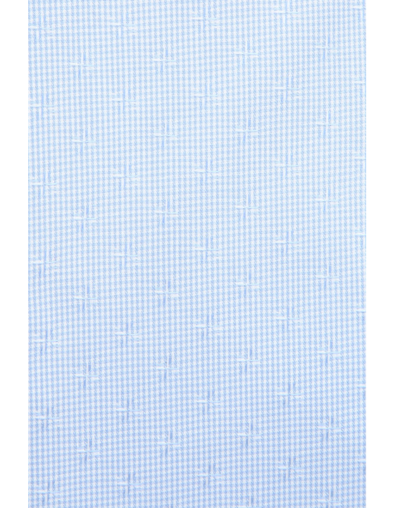 Canali Light blue dress shirt with gingham optical motif in pure cotton-2_1