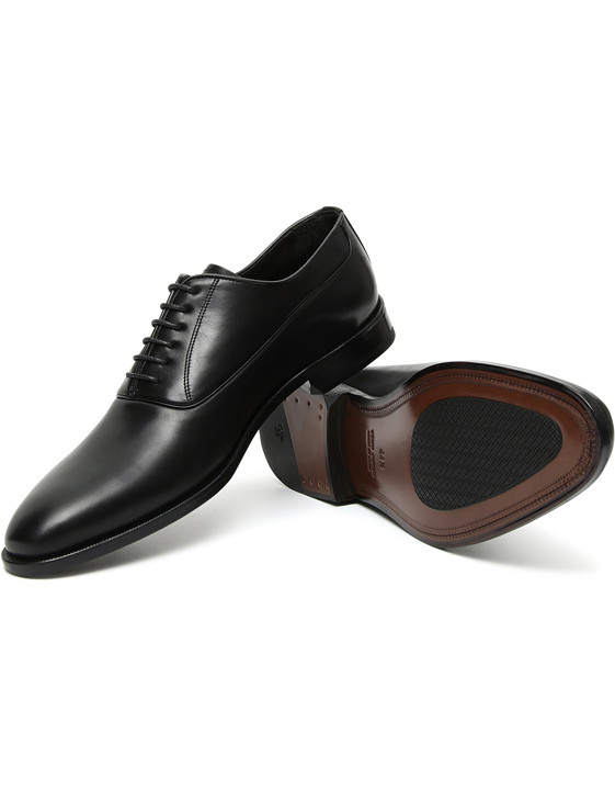 Canali Black buffed calfskin Oxford shoes-2_1