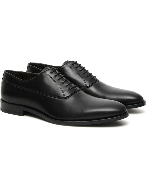 Canali Black buffed calfskin Oxford shoes-2_2