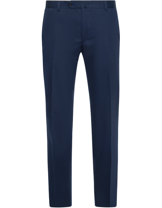 Canali Navy blue stretch cotton dress pants-2_1