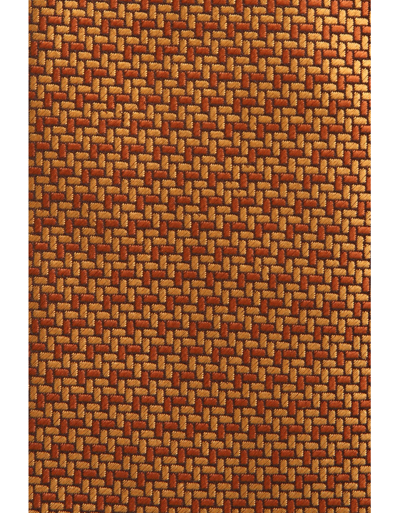Canali Ochre silk tie with bicolored woven pattern-2_1