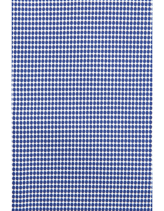 Canali Blue and white cotton dress shirt with honeycomb effect-2_2