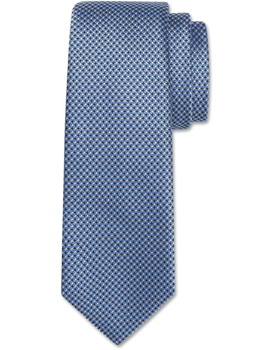 Canali Light blue silk tie with optical pattern-2_0