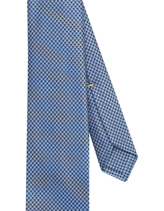 Canali Light blue silk tie with optical pattern-2_2