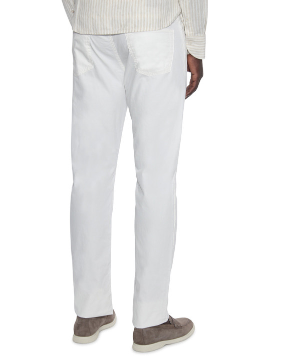 Canali White 5-pocket pants in stretch-cotton-2_2