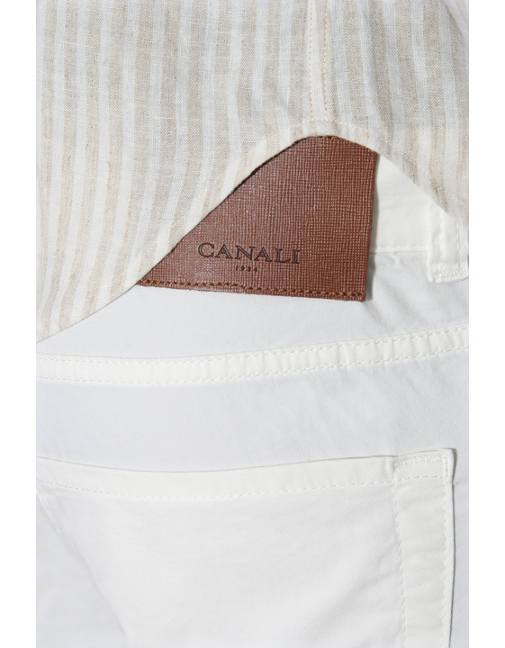 Canali White 5-pocket pants in stretch-cotton-2_3