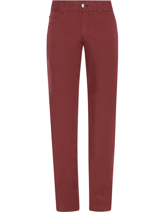 Canali Red 5-pocket pants in stretch-cotton-2_0