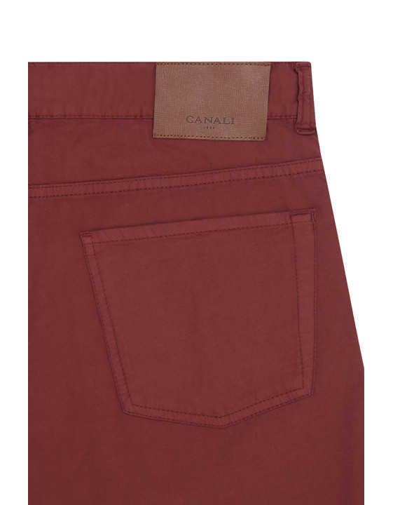 Canali Red 5-pocket pants in stretch-cotton-2_2
