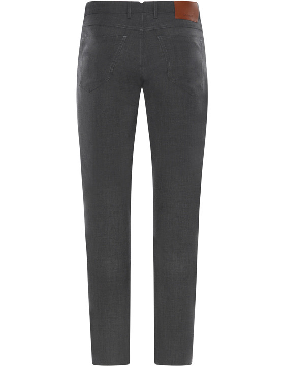 Canali Dark Gray 5-pocket pants in Impeccabile wool-2_1