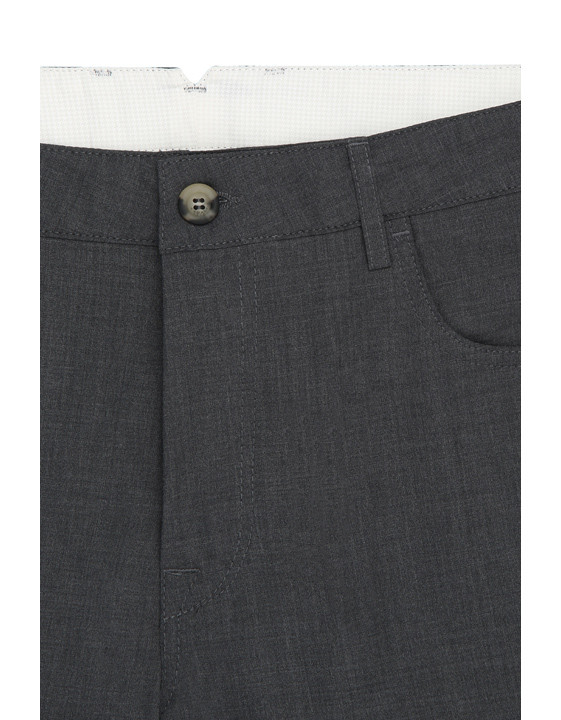 Canali Dark Gray 5-pocket pants in Impeccabile wool-2_3