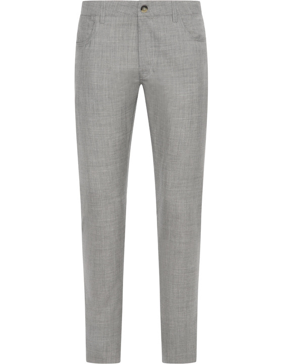 Canali Light gray 5-pocket pants in Impeccabile wool-2_0