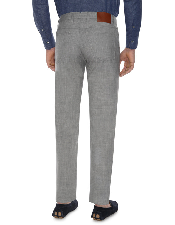 Canali Light gray 5-pocket pants in Impeccabile wool-2_2