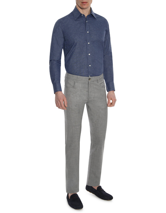 Canali Light gray 5-pocket pants in Impeccabile wool-2_5