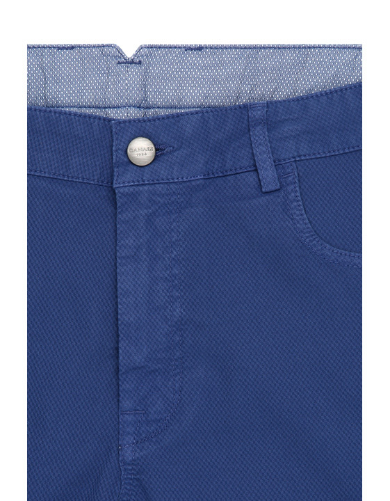 Canali Blue 5-pocket pants in textured stretch-cotton-2_4