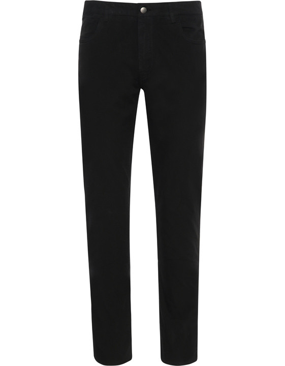 Canali Black 5-pocket pants in stretch-cotton-2_0