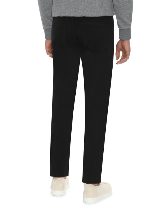 Canali Black 5-pocket pants in stretch-cotton-2_2