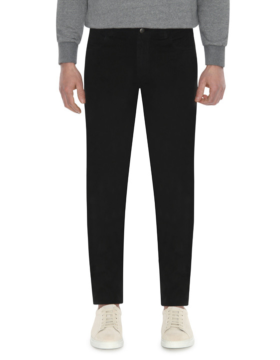 Canali Black 5-pocket pants in stretch-cotton-2_1