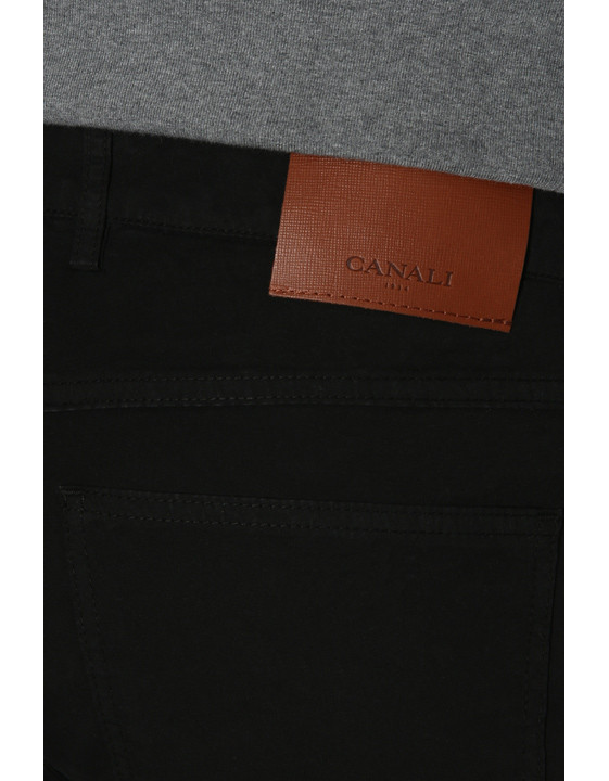 Canali Black 5-pocket pants in stretch-cotton-2_3