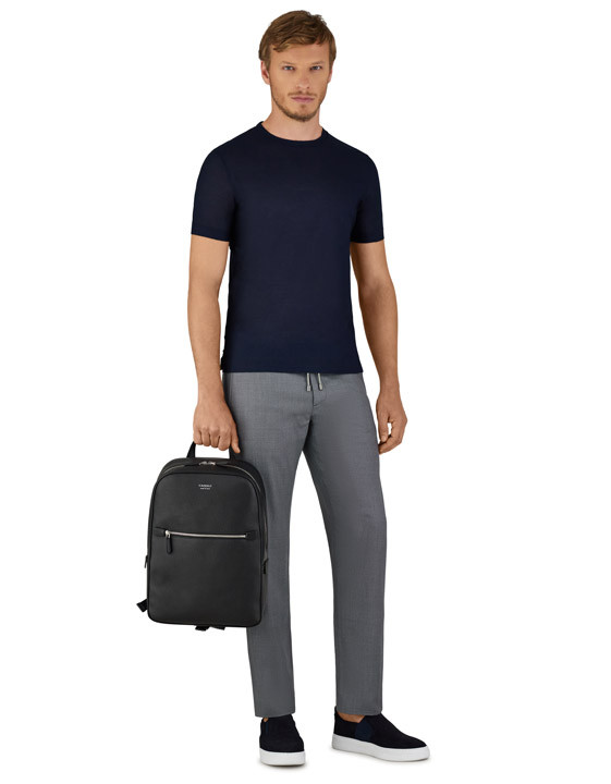 Canali Gray Impeccabile wool chinos with drawstring-2_1
