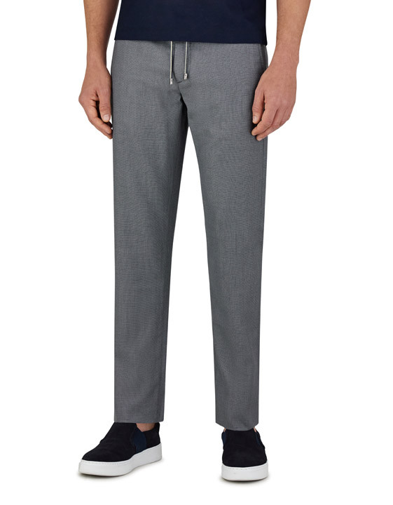 Canali Gray Impeccabile wool chinos with drawstring-2_2